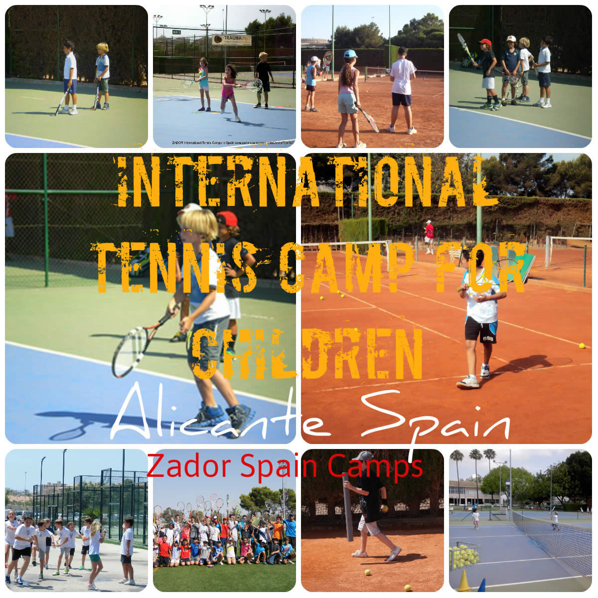 Tennis Camp for children Alicante Spain